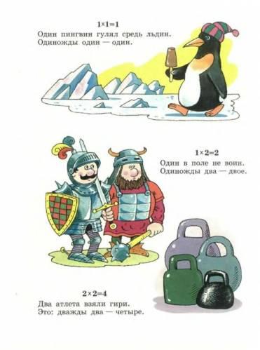 Детские стихи – таблица умножения и